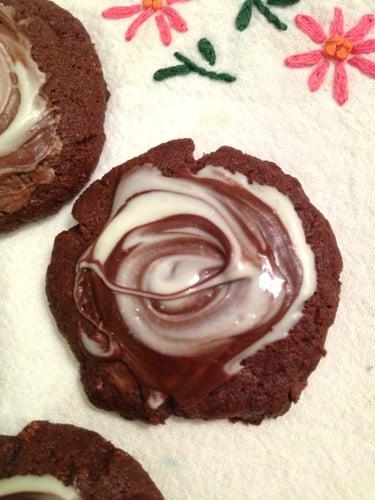 Chocolate Swirl Brownie Cookies