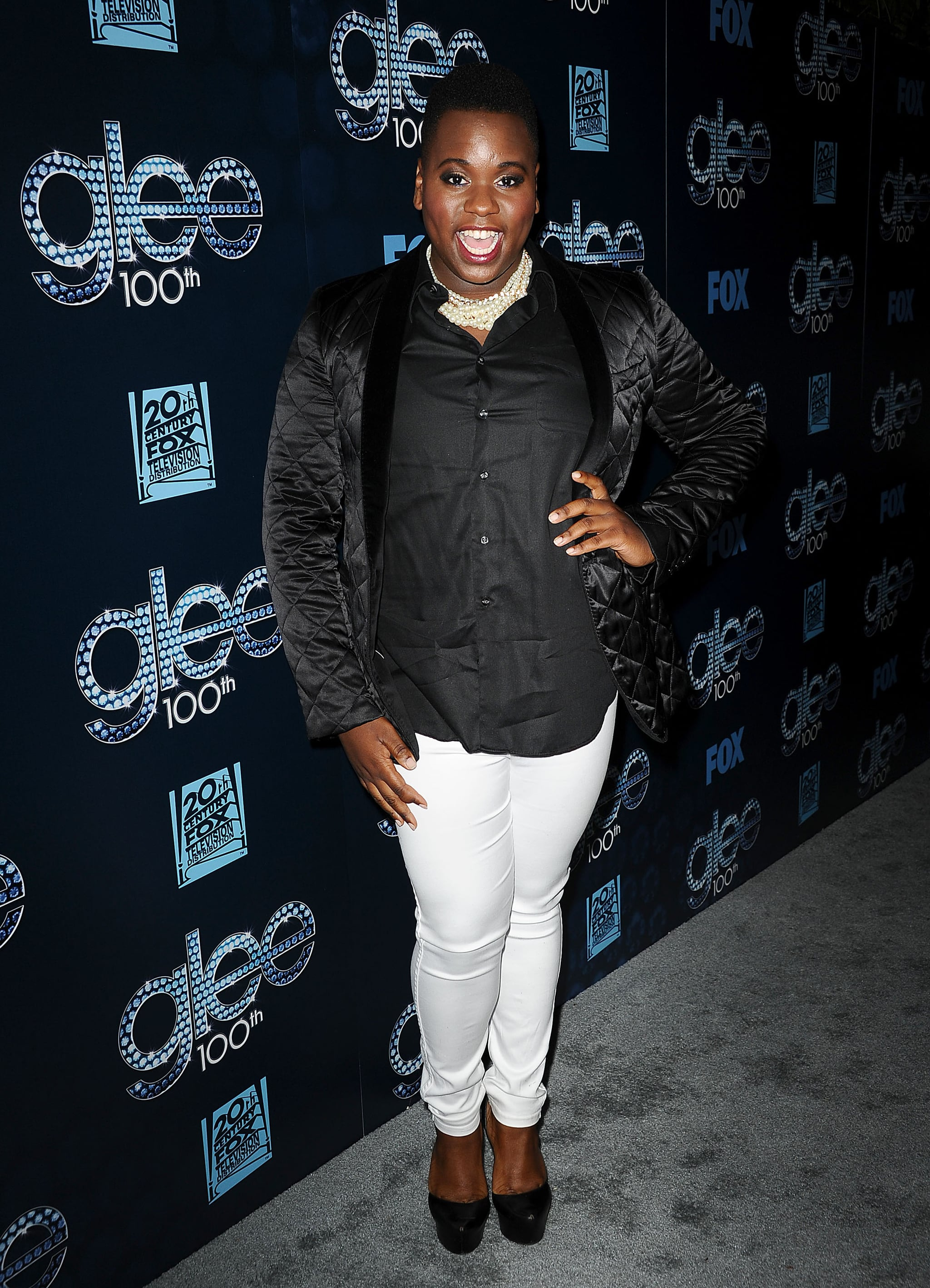 Alex Newell looked fantastic.