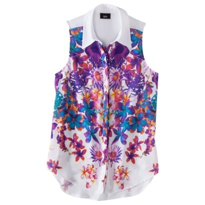 This Mossimo Printed Floral Blouse ($20) looks much more expensive than its paltry price tag would suggest.