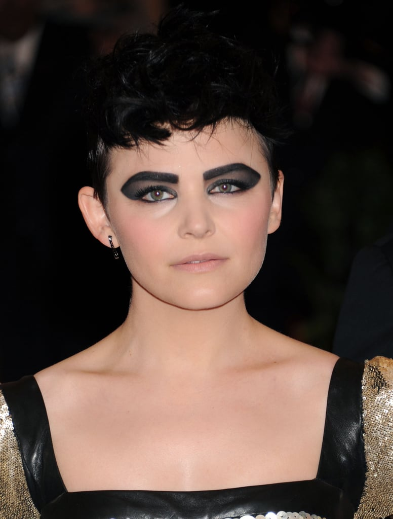 Ginnifer shocked the crowd at the 2013 Met Gala wearing blackened brows and an exaggerated smoky eye.