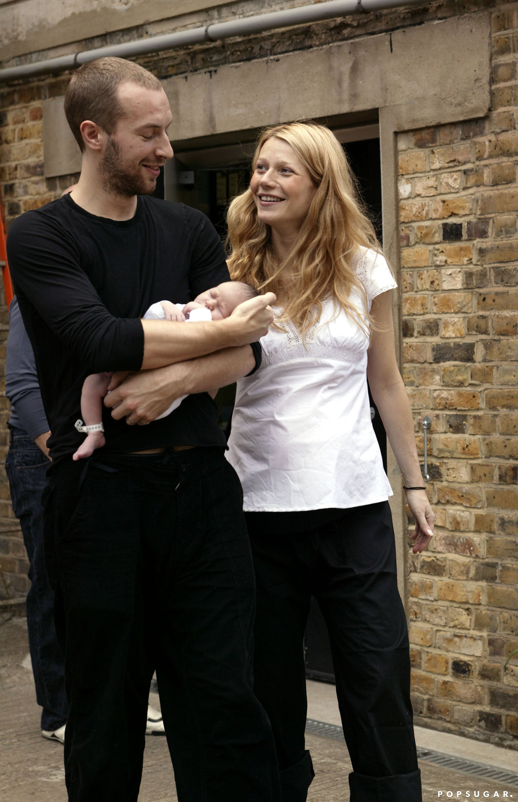 When they introduced their daughter, Apple, to the world in 2004.