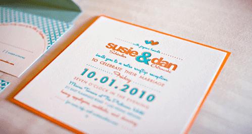 Retro Font Wedding Invitation
