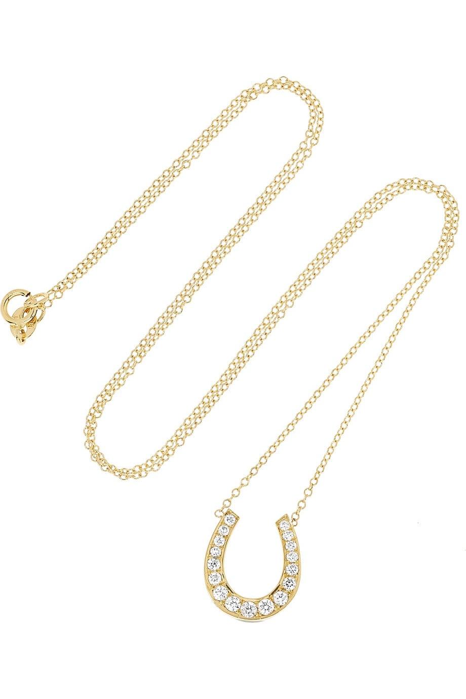 Anita Ko's gold diamond horseshoe necklace ($3,675) is simply irresistible. I'd wear it on my neck 365 days of the year. — Chi Diem Chau, associate editor