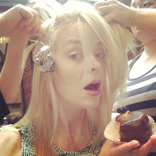 Jaime King's colourist deserved a special mention, not just because for her talents, but because she gives her clients giant chocolate-covered marshmallows! Source: Instagram user jaime_king