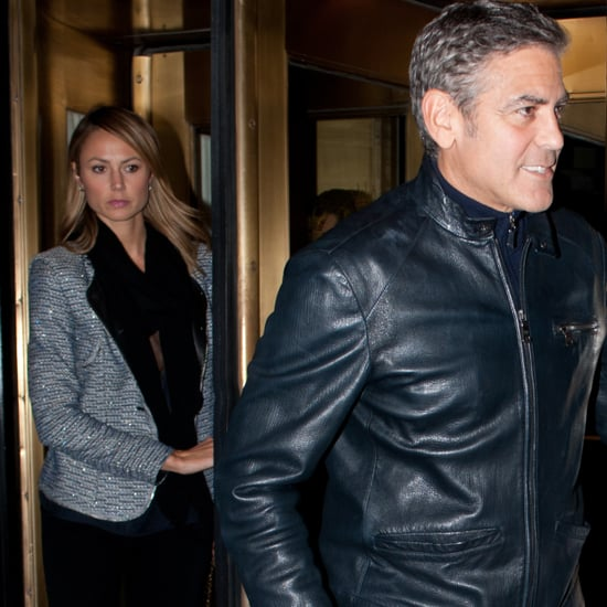 George Clooney and Stacy Keibler at Dinner With Bill Murray