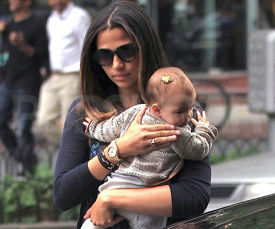 Slide Picture of Camila Alves and Vida McConaughey in NYC