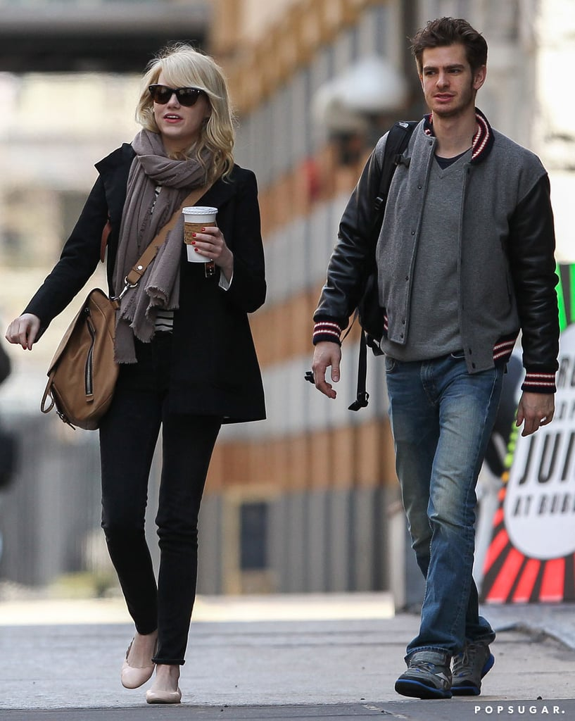 Emma Stone and Andrew Garfield strolled through NYC together on Tuesday.