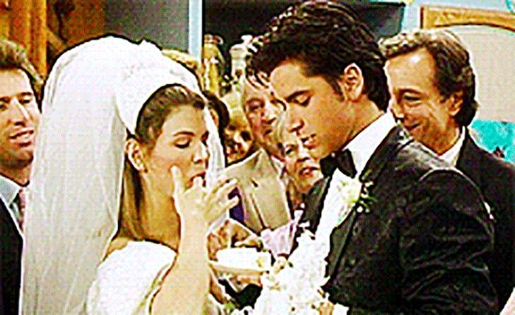 """""""When you get married, you can't eat the wedding cake!"""""""