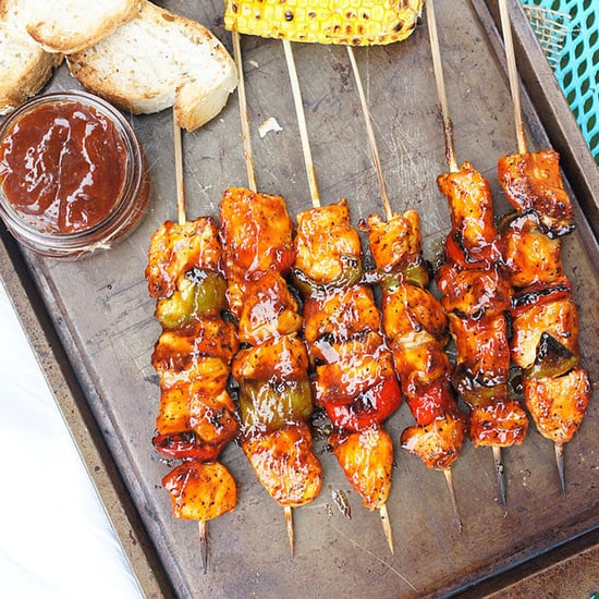 Honey-Chipotle Barbecue Chicken Skewers Recipe