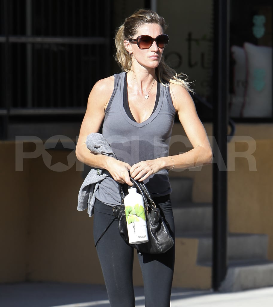 Gisele and Tom Work Out With a Continent Between Them