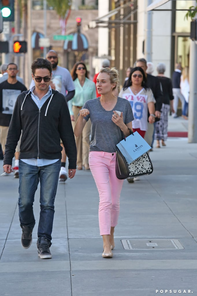 Diane Kruger wore pink pants for a shopping trip around LA.