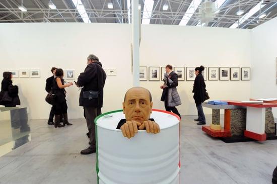 Silvio Berlusconi at Arte Fiera Art First Show in Italy