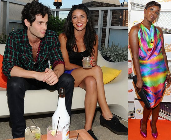 Pictures of Jessica Szohr and Penn Badgley at Malibu Party in NYC With Estelle, Sean Paul, Cobra Starship 2010-06-22 07:07:00