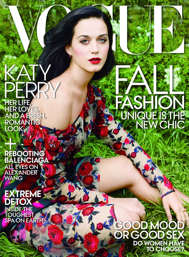 """Katy Perry shared her love for John Mayer with Vogue: """"I was madly in love with him. I still am madly in love with him. . . . Beautiful mind, tortured soul."""" Source: Annie Leibovitz/Vogue"""