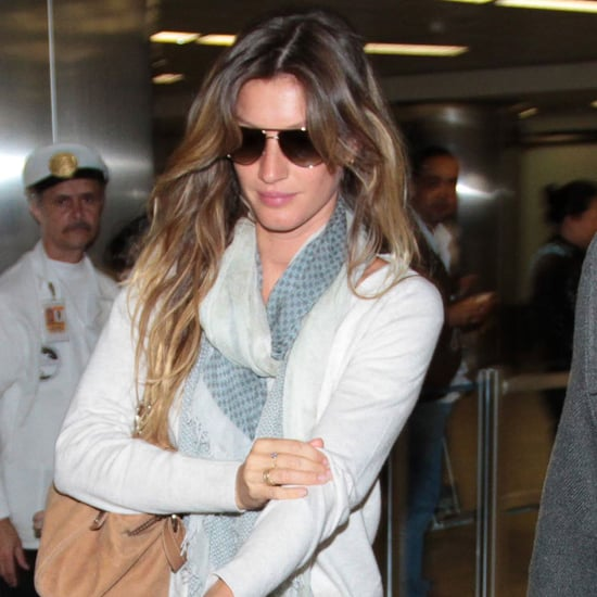 Gisele Landing at Airport in Brazil Pictures