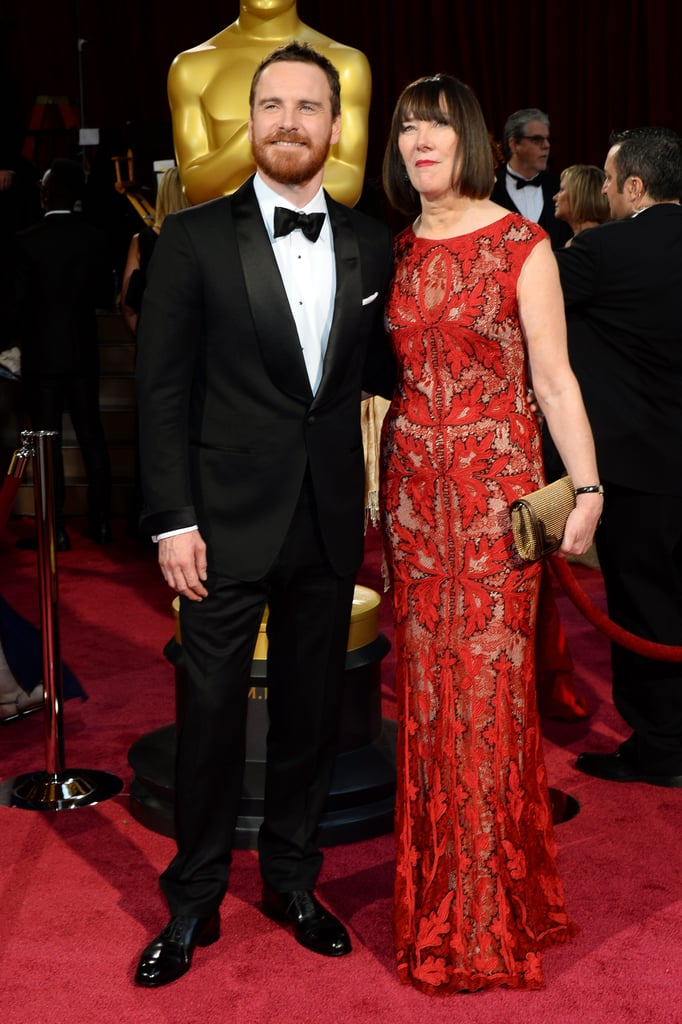 Michael Fassbender had his mom, Adele, by his side for the Oscars.