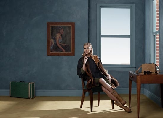 Fendi 2010 Autumn Campaign Starring Anja Rubik and Baptiste Giabcobini Shot by Karl Lagerfeld