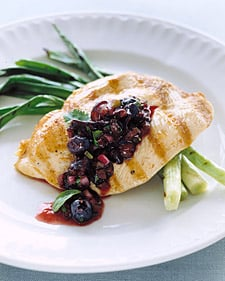 Grilled Chicken With Blueberry-Basil Salsa