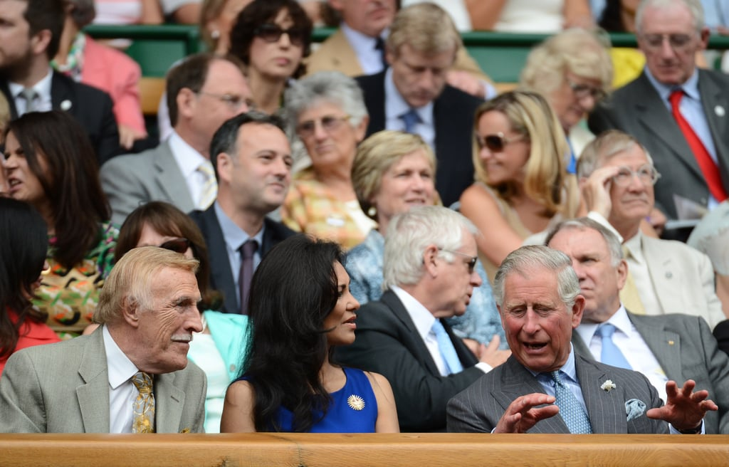 Prince Charles sat in the stands during Wimbledon.