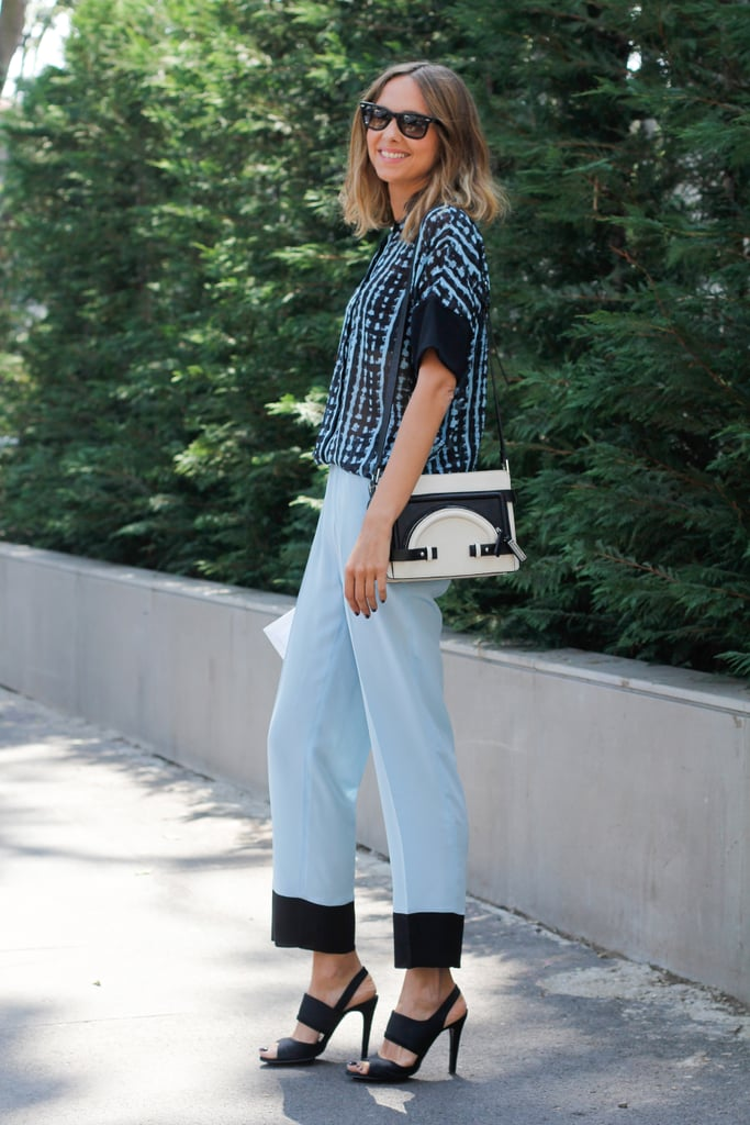 It was all about the color coordination and the polished accessories in this mix.