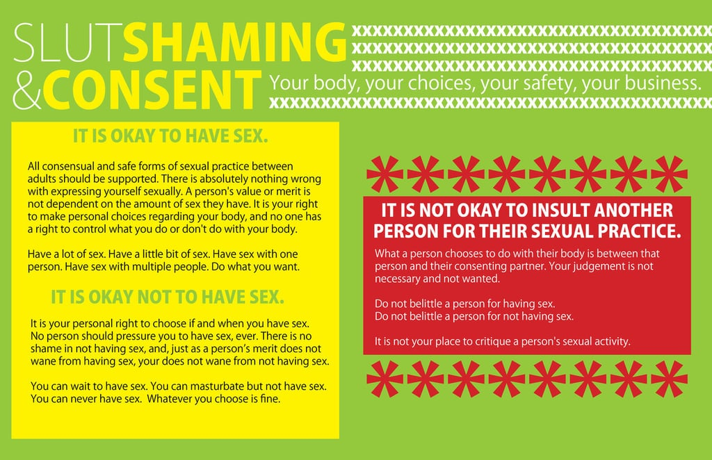 Slut Shaming and Consent