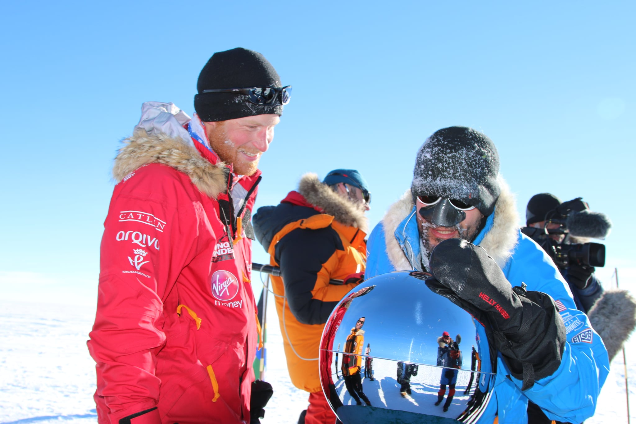 Harry grew a beard when he trekked to the South Pole with Walking With the Wounded in December 2013.