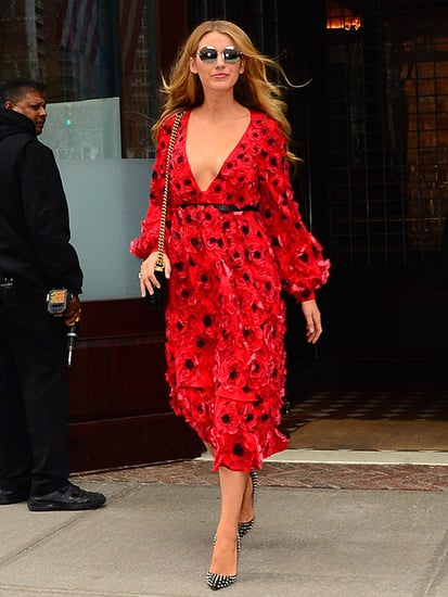Blake Lively Stuns in a Plunging Red Michael Kors Dress Proving She's Got Major Off-Duty Style