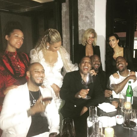 Beyonce and Jay Z With Kim and Kanye After MTV VMAs 2016