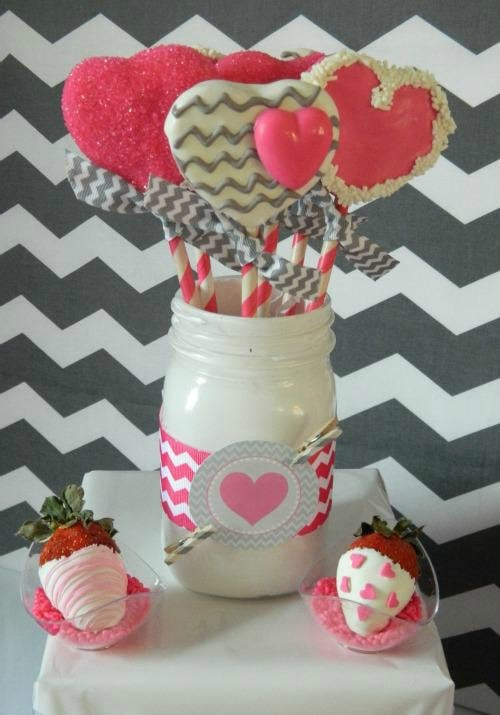 Pink and Gray Cake Pops