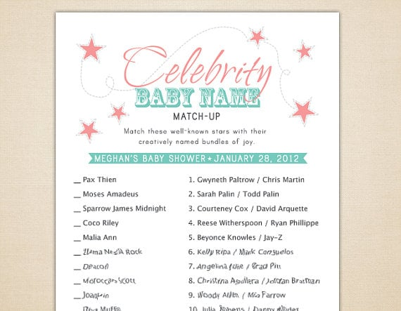 Celebrity Baby Name Game