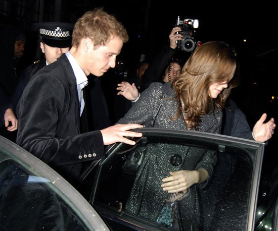 Prince William and Kate Middleton departed after a night at Boujis in January 2007.