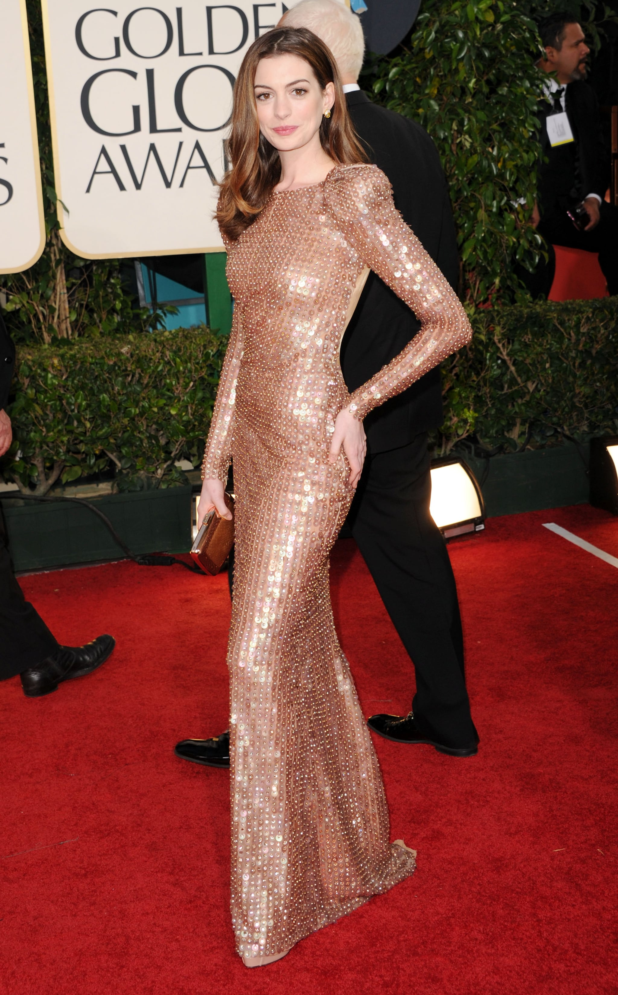 Anne Hathaway in Armani in 2011.