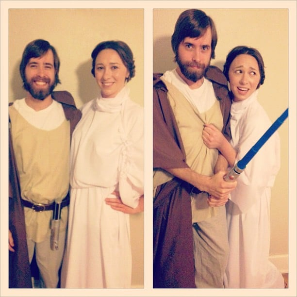 Obi Wan and Leia