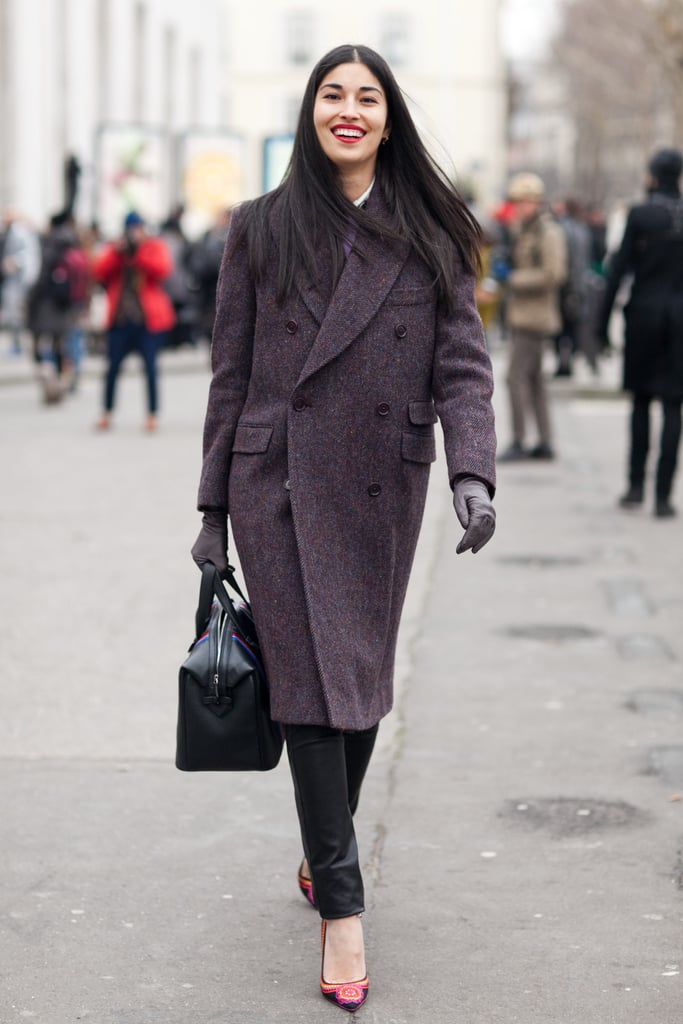 Caroline Issa reminds us that there's nothing wrong with keeping it classic — just add fierce heels to spice things up subtly.  Source: Le 21ème | Adam Katz Sinding