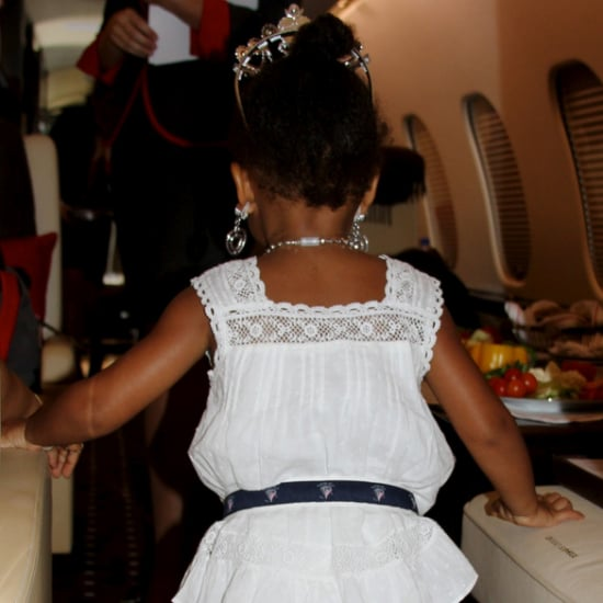 Blue Ivy Wearing Beyonce's Shoes | Pictures