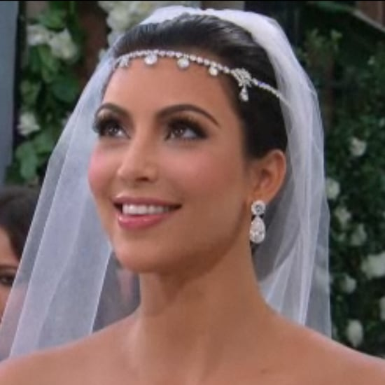 Kim Kardashian's Wedding Hair, Veil, and Headpiece