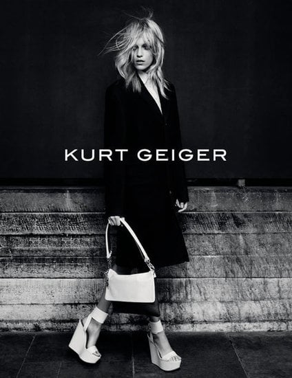 Anja Rubik stars in Kurt Geiger's Fall ads.