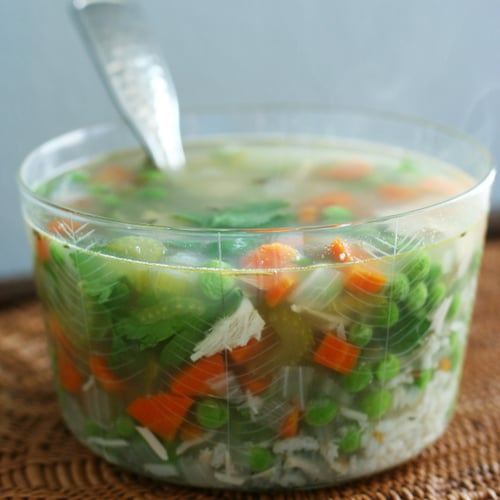 Leftover Turkey and Rice Soup