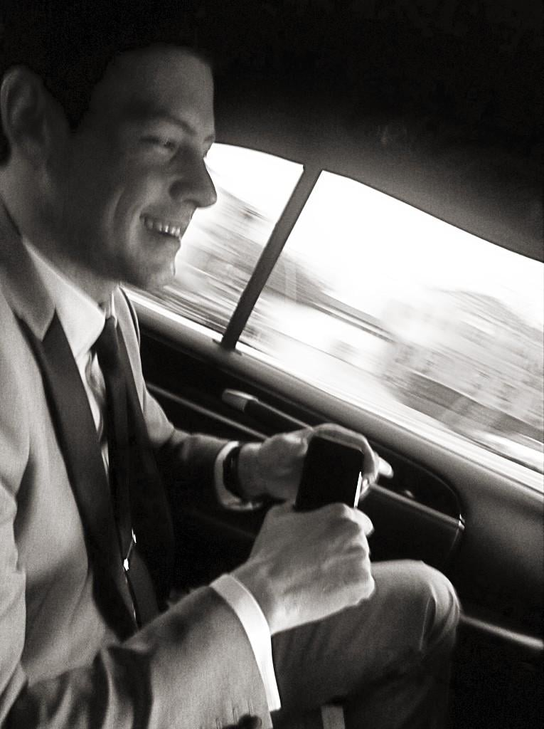 Tuxed up on the way to the awards. Source: Twitter user msleamichele