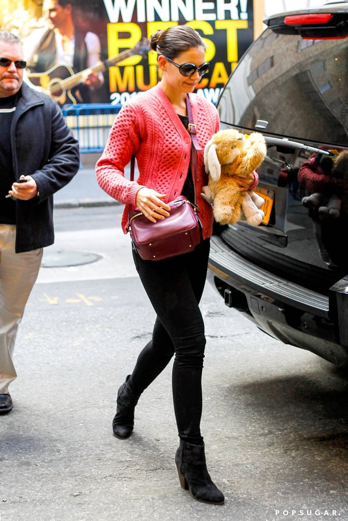 Katie Holmes headed to work.