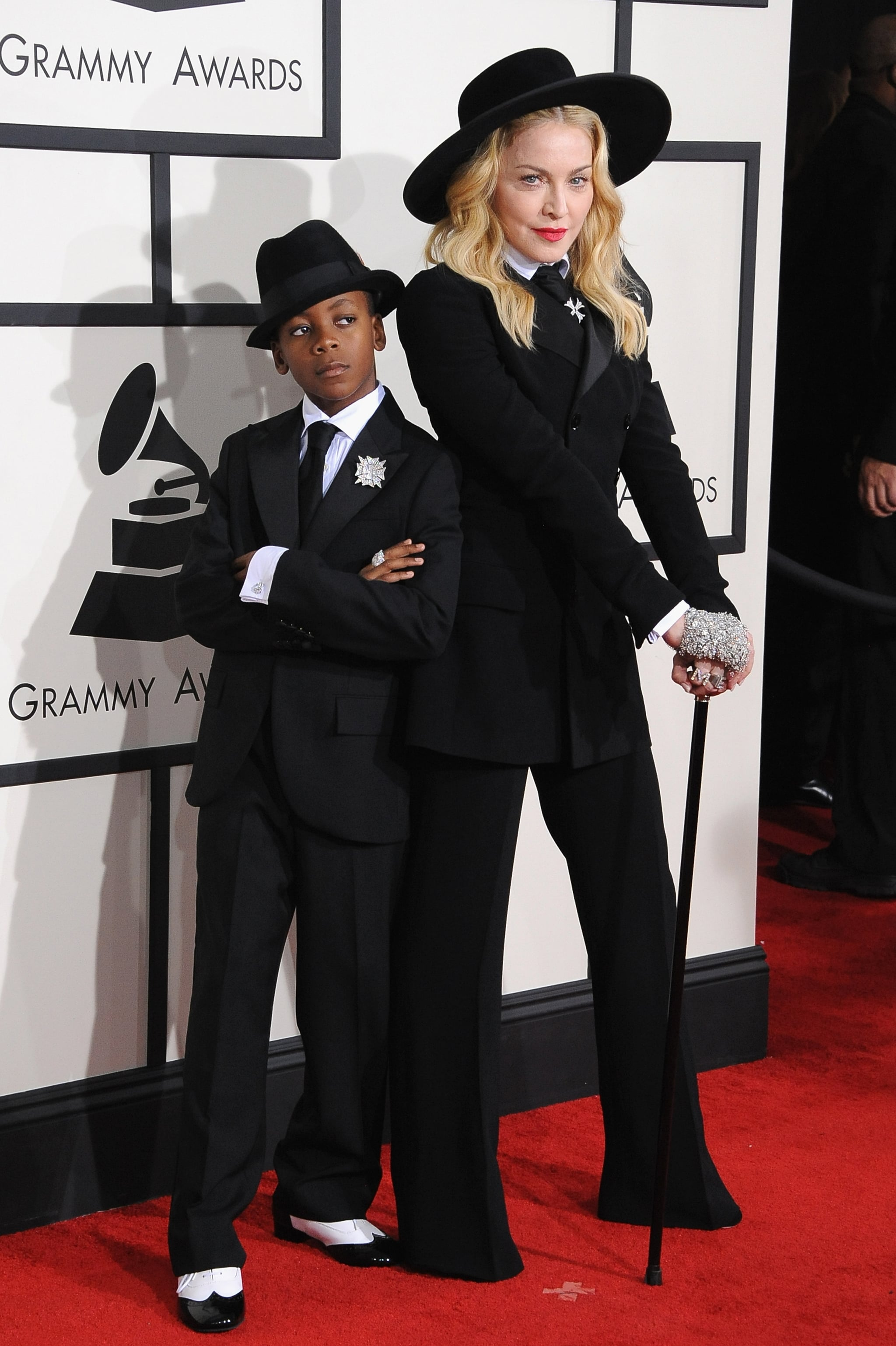 Madonna and her son, David, dressed up as twins for the Grammys.