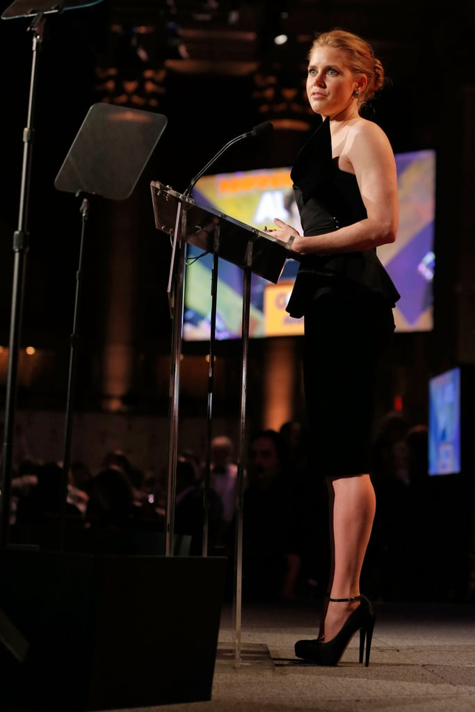 Amy Adams spoke at the Gotham Independent Film Awards.