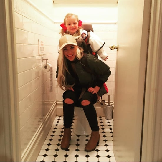 Mom Pees With Kid Strapped to Her Back