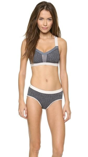 The sporty-chic VPL Swim Bikini Top ($155) shows off more tummy than a tankini, but it also has plenty of coverage for someone who isn't a fan of a teeny bikini.