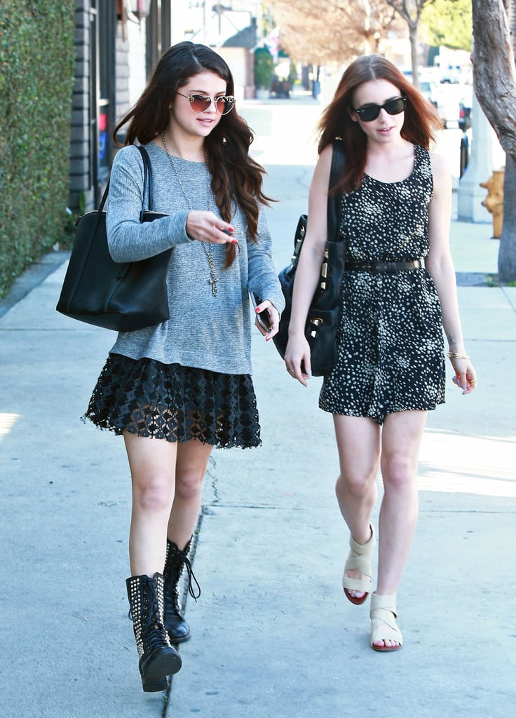 Selena Gomez and Lily Collins