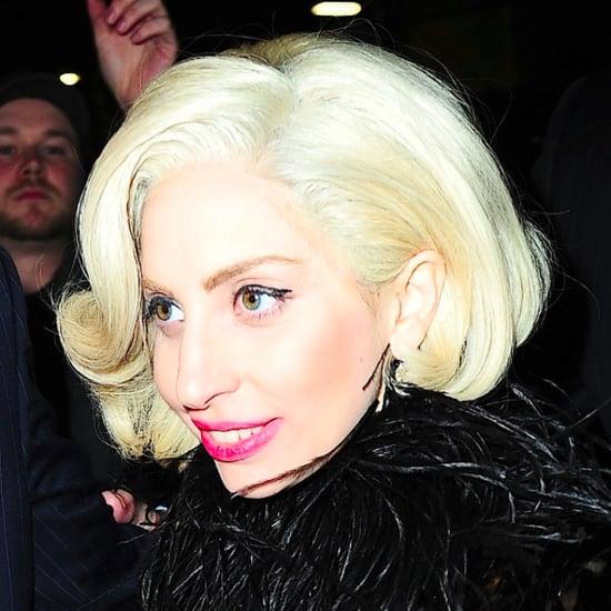 Lady Gaga Short Blonde Bob 2013