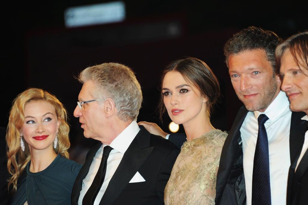 Sarah Gadon, David Cronenberg, Keira Knightley, Vincent Cassel, and Viggo Mortensen.