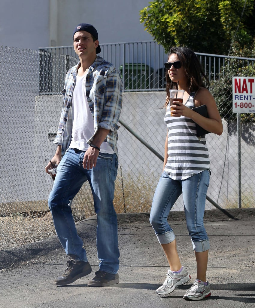 Ashton Kutcher and Mila Kunis had a day out in LA.
