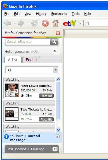 Firefox eBay Companion