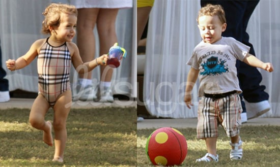 Celebaby Style: Emme and Max Anthony's Burberry Swimsuits